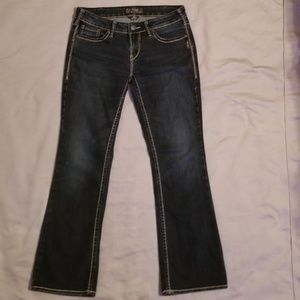 Silver Aiko Bootcut Jeans Size 30